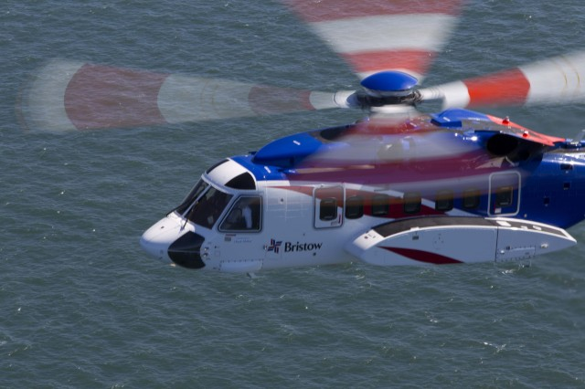 Bristow S-92 flying