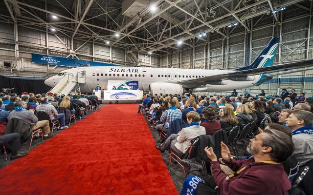 SilkAir Boeing 737-800 at Boeing