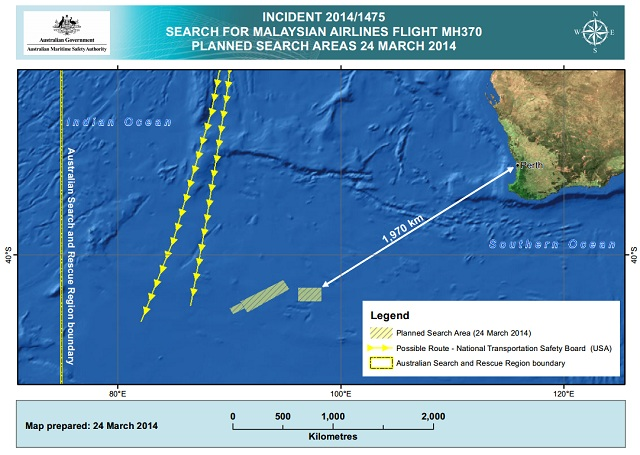 24 march mh370 search zone