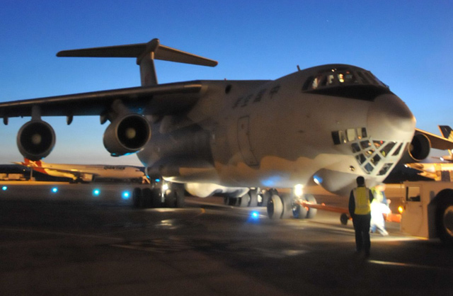 Chinese Air Force IL-76 MH370 search