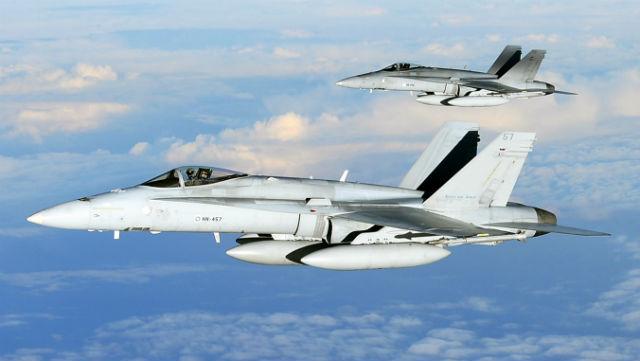 F-18 pair - Finnish air force