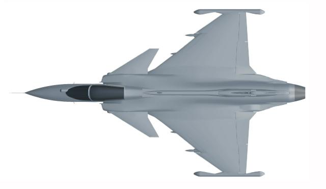 Gripen E above - Saab