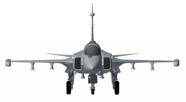 Gripen E front - Saab