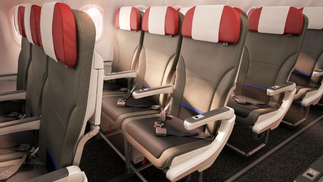 LATAM A320 new interior
