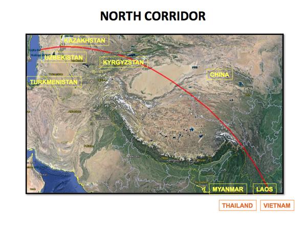 Northern corridor mH370