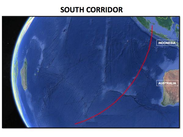 Southern corridor MH370