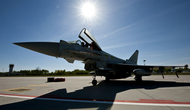 RAF Typhoon Lithuania - Crown Copyright