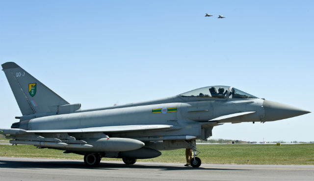RAF Typhoons Lithuania - Crown Copyright