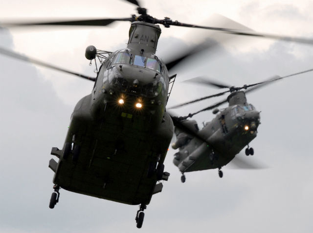 RAF Chinooks - Crown Copyright