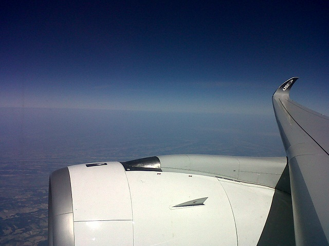 A350 wing view