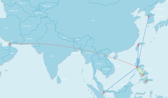 Cebu Pacific A330 network june 2014