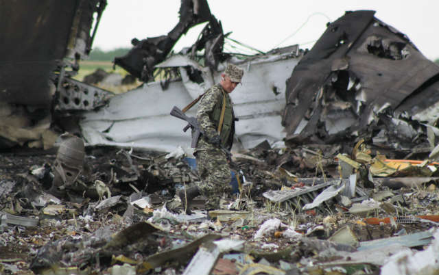 Il-76 crash - Rex Features