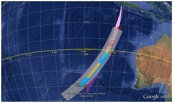 MH370 revised search area