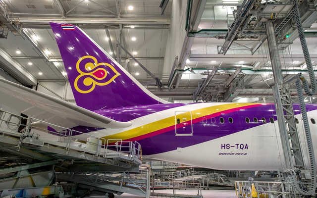 Thai first 787 aircraft in painting - tail