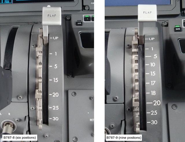 787 flap comparison