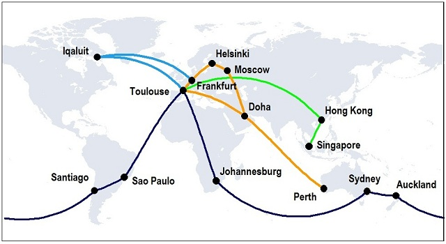 A350 route proving