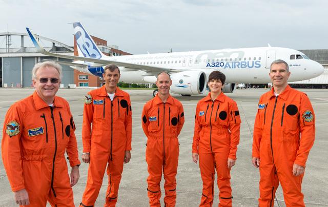 A320neo first flight crew