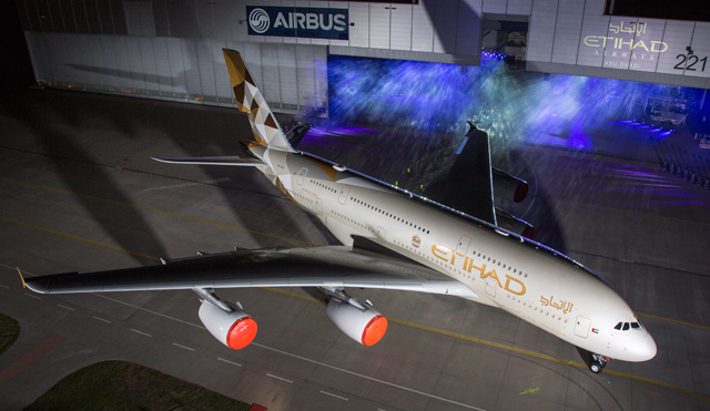 Etihad A380 rollout