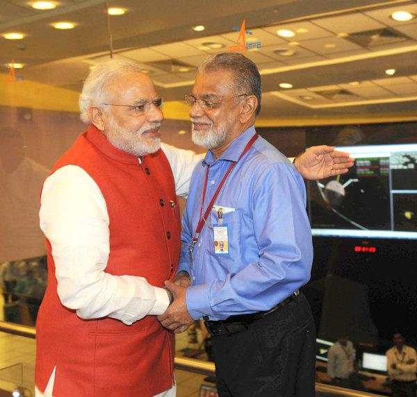 Modi at ISRO