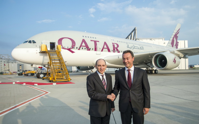 Qatar A380 delivered