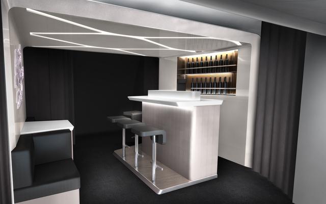 Virgin Australia new business class bar