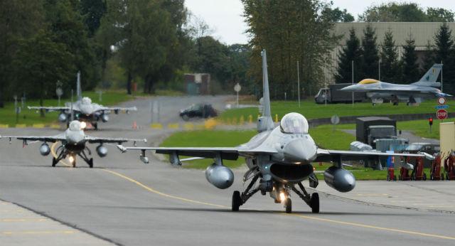 Belgian F-16s - Rex Features