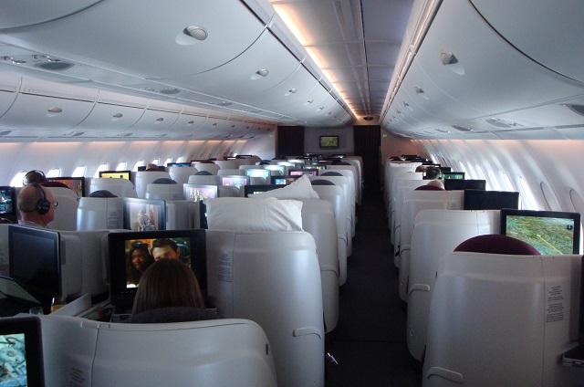 Qatar A380 biz