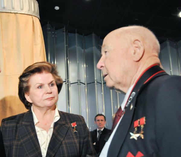 Tereshkova and Leonov c NASA
