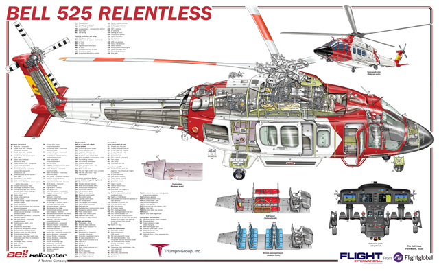 Bell 525 cutaway