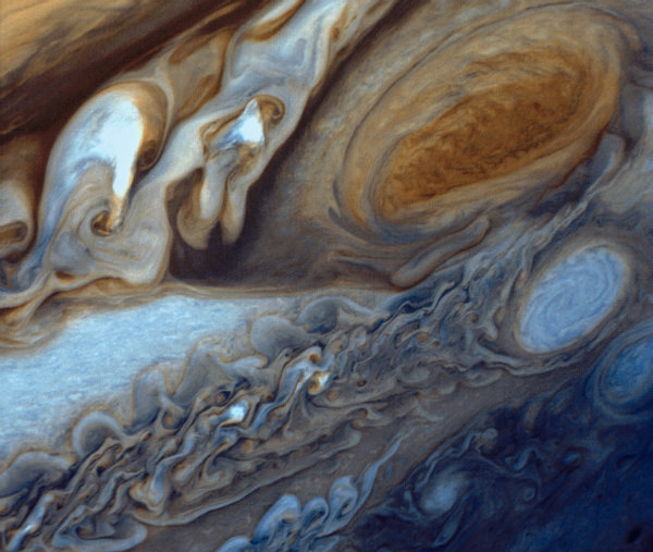 Voyager 1 pic of Gt Red Spot 600