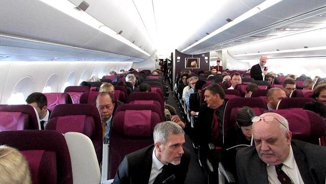 QR A350 y cabin