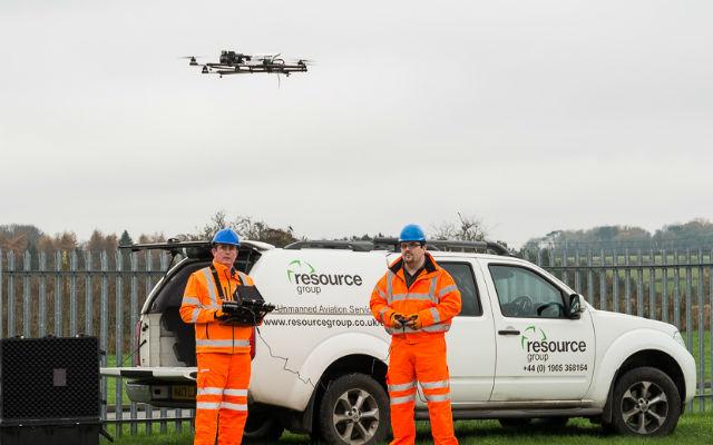 Resource Group UAV flying