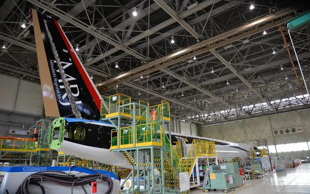 MRJ 3rd flight test jet