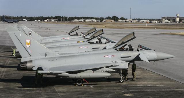 Typhoons Nellis - Crown Copyright