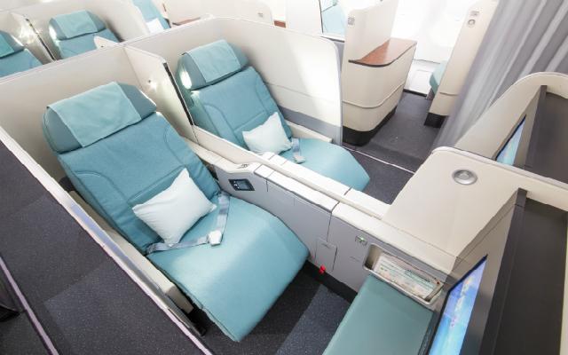 Korean Air new business class seats
