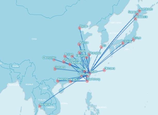 transasia route map