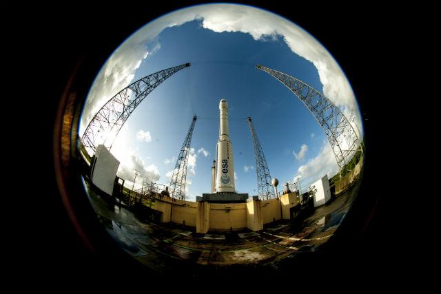 Vega with IXV on pad c ESA