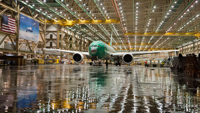 Boeing 777 production line