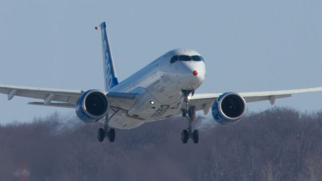 Bombardier CSeries flight 640