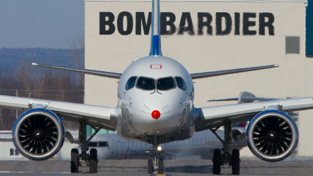 Bombardier CSeries front side