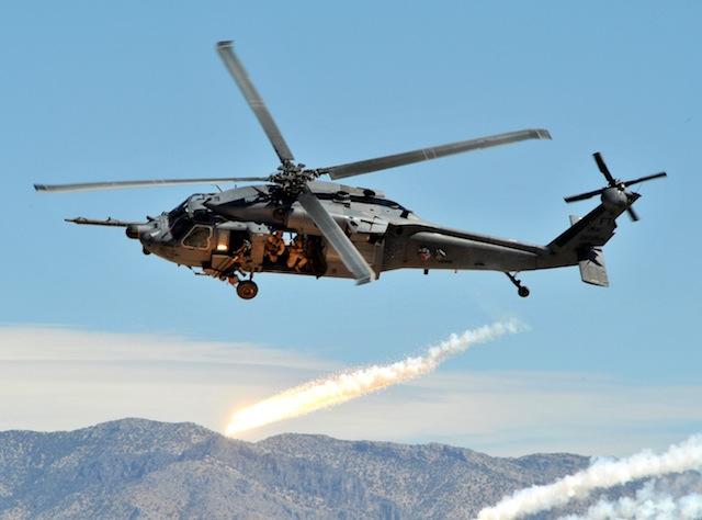 HH-60 Pave Hawk flares