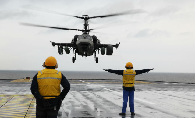 Ka-52 deck trial - Russian Helicopters