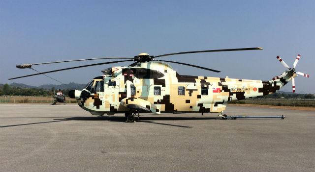 Malaysian army S-61 Nuri - pay Peter Foster