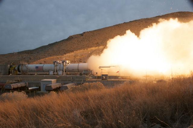 SLS booster test firing March 2015 c Orbital ATK
