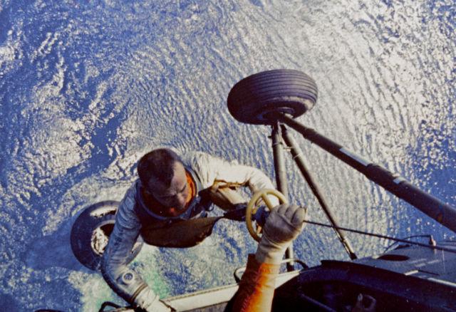 Alan Shepard recovery c NASA