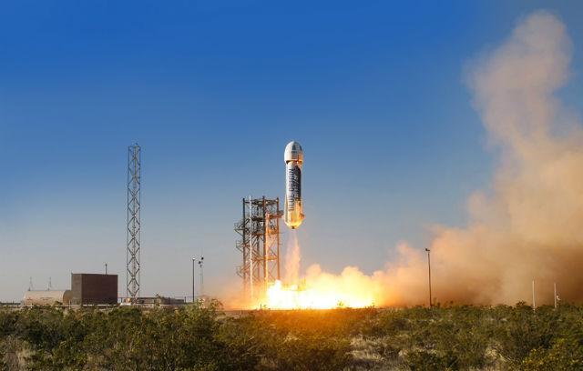 Blue Origin BE-3 maiden flight