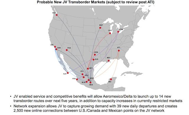 Delta Aeromexico potential new routes