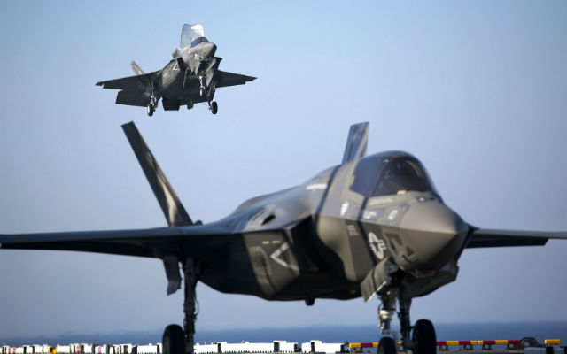 F-35B landing on USS Wasp - USMC