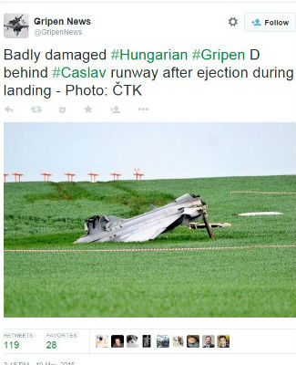 Hungarian Gripen crash - Twitter