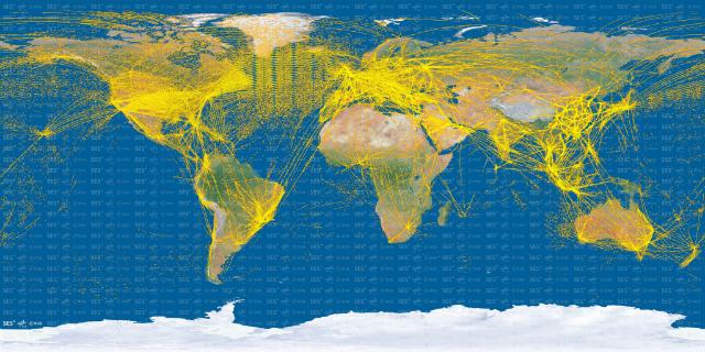 Proba-V ADS-B map c ESA DLR SES